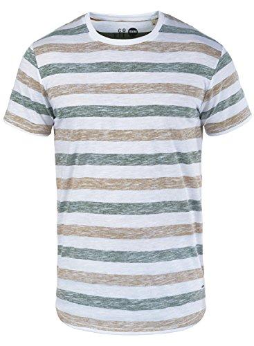 !Solid Tet Herren T-Shirt Kurzarm Shirt mit Streifen und Rundhalsausschnitt, Größe:XXL, Farbe:Cinnamon (5056) - Striped V-neck-shirt