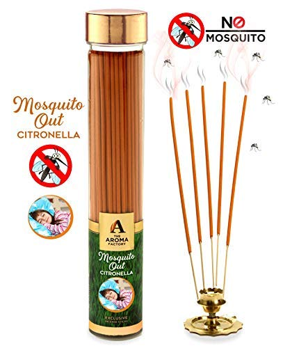 The Aroma Factory Mosquito Out Incense Sticks Mosquito Repellent Agarbatti (Bottle Pack of 100grams)