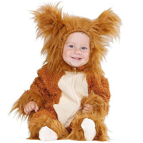 Costume vestito abito travestimento carnevale bambino leoncino fuzzy