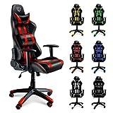 Diablo X-One silla de gaming silla de oficino, silla de escritorio (negro-rojo)