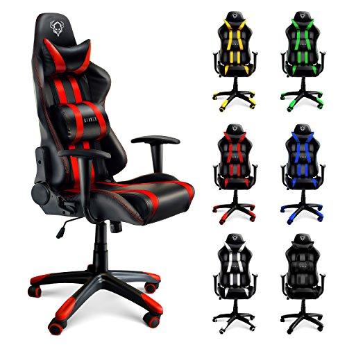 Foto de Diablo X-One silla de gaming silla de oficino, silla de escritorio (negro-rojo)