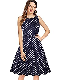 e9aee93a9260 ihot Women's Vintage 1950s Classy Rockabilly Retro Floral Pattern Print  Cocktail Evening Swing Party Dress