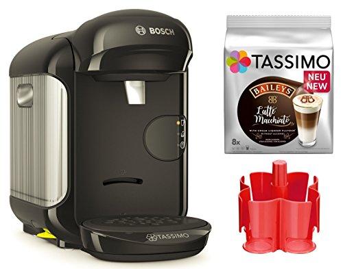 Bosch TASSIMO Vivy 2 Bundle + Spender + TDiscs Heißgetränkemaschine (Schwarz)