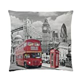 Global Labels G 82 950 LON1 140 Städte London Kissen, Polyester 40 x 40 cm