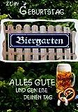 bayerische Geburtstagskarte Biergarten