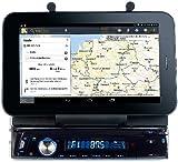 Creasono Autoradio DIN 1: Autoradio CAS-4500tab mit Bluetooth & Tablet-Halterung bis 17,8cm / 7' (Autoradio BT)