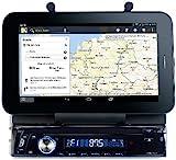 Creasono 1 DIN Autoradio: Autoradio CAS-4500tab mit Bluetooth & Tablet-Halterung bis 17,8cm / 7