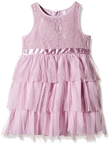 ESPRIT Mädchen, Kleid mit Spitze, 115EE7E001, GR. 128 (Herstellergröße:128+), Violett (lilac)