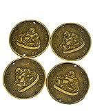 Chinesische Münze 4 W, Durchmesser: 5.59 cm, lachender Buddha, Feng Shui Glücksmünzen SKU: Y1139 Geschenk Tüte