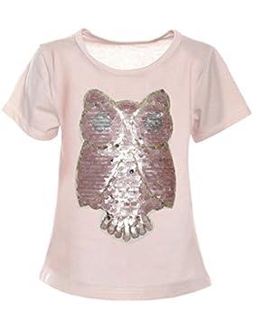 BEZLIT - Camisa deportiva - Blusa - Estrellas - Cuello redondo - Manga corta - para niña Rosa 14 Años/164 cm