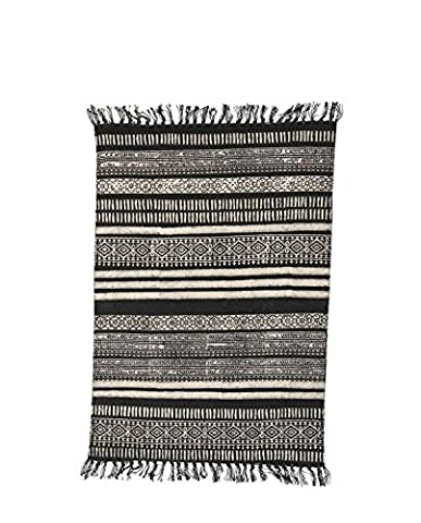 Rug, Stack, black/grey/nude, 70x240 cm, 100% cotton (sizes and colours