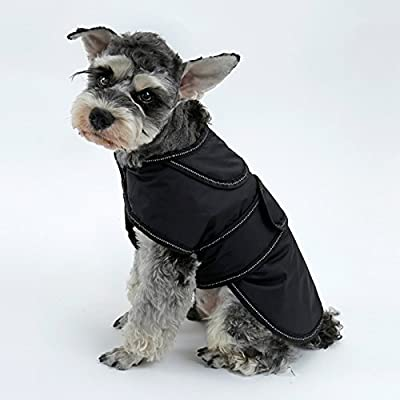 Eono Dog Coat Warm Dog Apparel Detachable Fleece Lining Waterproof Winter Jacket Cold Weather Clothe Adjustable Vest for Small Medium Large Dogs with Reflective Strip from EONO
