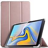 IVSO Hülle für Samsung Galaxy Tab A 10.5 SM-T590/T595, Slim Schutzhülle mit Auto Aufwachen/Schlaf Funktion Perfekt Geeignet für Samsung Galaxy Tab A SM-T590/SM-T595 10.5 Zoll 2018, Rosegold