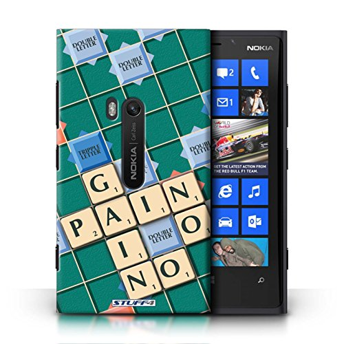 Kobalt® Imprimé Etui / Coque pour Nokia Lumia 920 / Pratique Parfaite conception / Série Mots de Scrabble Aucun Douleur Gain