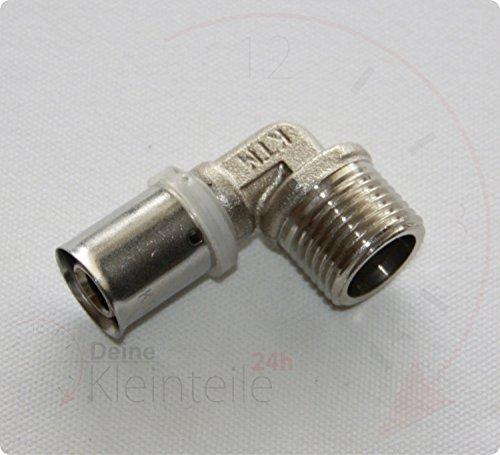 pressf itting connecteur femelle coudé 90 ° en aluminium Composite Tuyau Tube coudé Fittings, 16mm - 3/4\