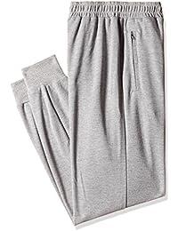 Hanes Men's Cotton Joggers Pants (8907378022318_MPP12-031-PL_Large_Oxford Grey Melange)