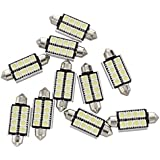 TOOGOO(R) 10 x Bombillas 8 LED SMD 5050 CANBUS blanca para coche carros luz festoon dome