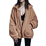 XWBO Damen Kurz Pelzmantel Kunstpelz Pelzjacke Winter Warm Faux Pelz Jacke Mantel Wintermantel Outwear Flauschiges Parka