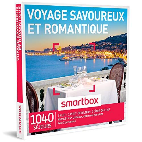 SMARTBOX - Coffret Cadeau - VOYAGE SAVOUREUX ET ROMANTIQUE - 1040 séjours : hôtels...
