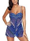 FLYILY Damen Bademode Tankinis Schwimmen Kostüm 2 Stück Badeanzug Sets Plus Größe