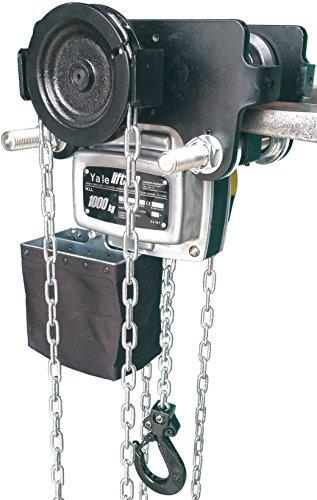 ITG Yale AMZ1021711 Integral Geared Carrello con contenitore-Paranco A catena, tipo A, per autunno, Standard, finiture, 500 kg, 7 m