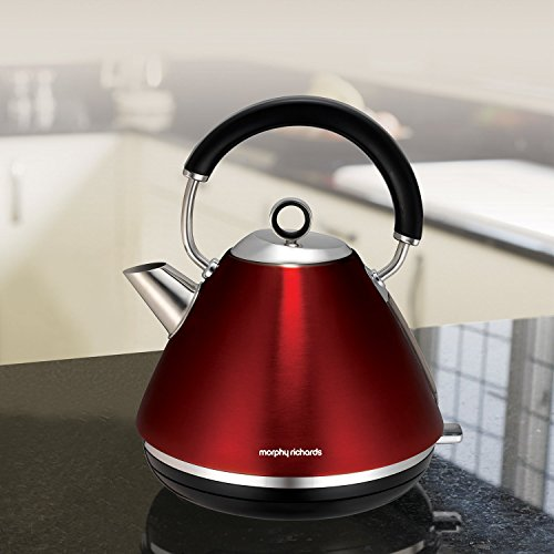 Morphy Richards 102004EE Accents Wasserkocher Pryramide rot - 10
