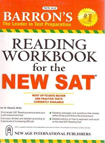Barrons Reading Workbook for the New SAT [Paperback] Brian W. Stewart