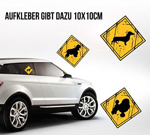 Siviwonder Unisex T-Shirt AIDI Wunder NO Training Schäferhund witzig funny Hunde + Aufkleber Ash