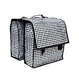 IKURI Fahrradtasche Wasserdicht - Große Radtasche für den Gepäckträger mit Schultergurt für Damen und Herren Wasserfeste Gepäckträgertasche Packtasche Doppeltasche Umhängetasche -Design Vichy