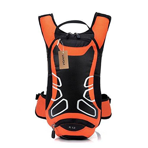 Lixada 12L Wasserabweisend Fahrrad Schulter Rucksack Wasser Reisetasche Ultralight für Radsport Outdoor Reiten Bergsteigen Hydration Orange