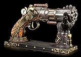 Steampunk Decorazione Pistola con Hand-Halterung Fantasy Arma Veronese