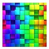 Bilderwelten Papier peint intissé Premium - 3D Cubes - Mural Carré papier peint photo intissé tableau mural photo 3D mural, Dimension HxL: 336cm x 336cm