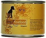 Dogz finefood Hundefutter No.6 Känguru 200g, 6er Pack (6 x 200 g)