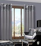140x245 cm grau stahl anthrazit Vorhang Vorhänge Fensterdekoration Gardine Ösenschal grey steel CITY