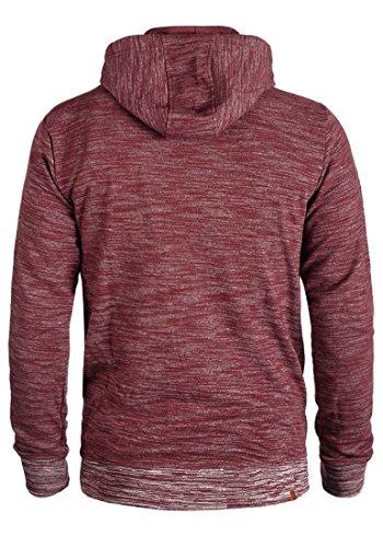 BLEND Quito Herren Sweatjacke Kapuzen-Jacke Zip-Hoodie aus hochwertiger Baumwollmischung Meliert Zinfandel (73006)