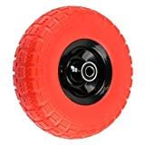 NK WFFOR10 Heavy Duty Solid Rubber Flat Free Tubeless Hand Truck/Utility Tire Wheel