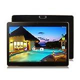 Smart Tablet Dual SIM double veille 10.1 pouces MTK6592 huit Core 4G + 64G Android 6.0 double carte double caméra tablette Tablet PC, Lanspo Vente Cadeau pour les copines d'amis (235 * 165 * 10mm, Black)