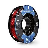 SainSmart Kleine Spule 1.75mm TPU Flexible 3D Filament 250g, Maßgenauigkeit +/- 0,05 mm, Shore 95A, Rot