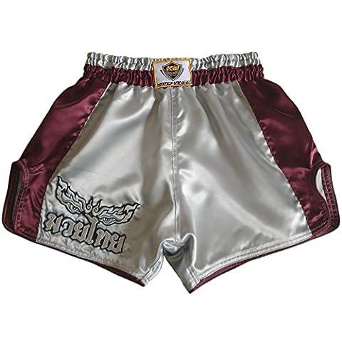 KM Muay Thai Hose Kickboxen MMA Gym Shorts Damen Herren XX-Large (Waist 34