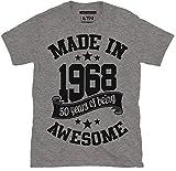 6TN fabriqué en 1968 50 Ans of Being Excellent T Shirt - Gris Cendre, X-Large