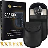 Picture Of 2 x Car Key Signal Blocking Pouch by Cloakmate | Faraday Bag Protector for Keyless Fobs | RFID Blocker for Car Keys