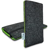 Stilbag Filztasche 'FINN' für HTC Sensation XL - Farbe: anthrazit/grün