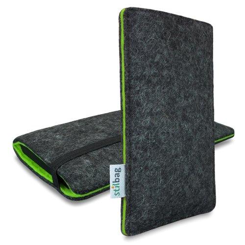 Stilbag Filztasche 'FINN' für Apple iPhone 6 - Farbe: anthrazit/grün anthrazit/grün