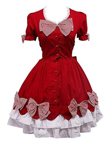 Cemavin Baumwolle Rote Schleife Classic Lolita (Für Bug Erwachsene Kostüme)