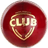 Monika Sports Moni Club Red Cricket Leather Ball (Pack Of 1, Red)