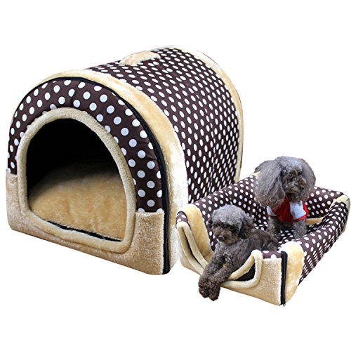 Dreamworldeu Petsfit Kuschelhöhle /Hundehöhle Hundebett /Katzenhöhle Fleece Bett/ Haus Hundesofa Haustier Warm Schlafplatz hundehütte Katzenbett/Tierbett Hundebett Hundesofa