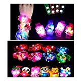 #8: XLDreams 5 Pcs Imported Cartoon Characters LED Light (4types of Light)Bracelets/Watch Return Gifts for Kids