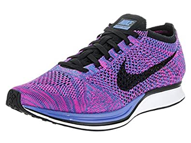 separation shoes 5c8df 3130a Nike Flyknit Racer Game Royal Black Pink Flash (526628 400) (4 UK