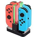 Diyife Station de Chargement pour Nintendo commutateur Joy-Con, [Nouvelle Version] 4en 1Chargeur Support et Support de Chargement avec indicateur LED individuelle