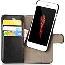 iPhone 6S Plus Case, CUVR® [Magnetic] Premium Vegan Leather, Convert [Instantly] Smart Light Shell to Handy Wallet Cover, For Apple iPhone 6S 6 Plus
